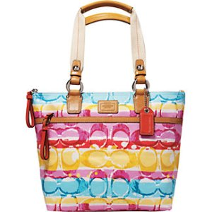 colourful hamptons tote $248